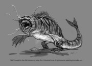Men in Black 3 - Alien Fish concept art 2