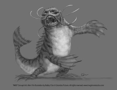 Men in Black 3 - Alien Fish concept art 3