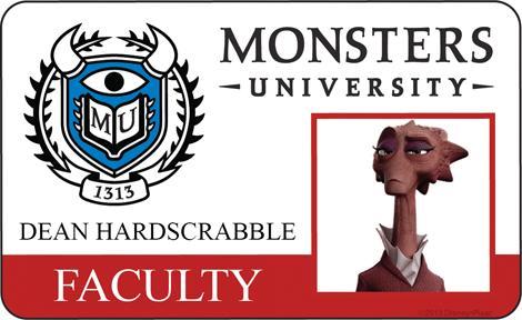 Monsters University ID - Dean