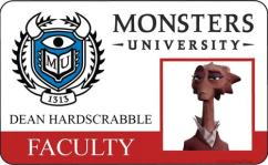 Monsters University ID - Dean