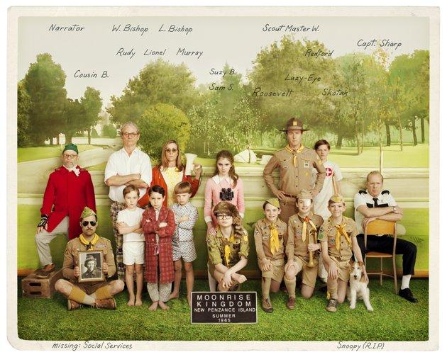 Moonrise Kingdom Group Photo