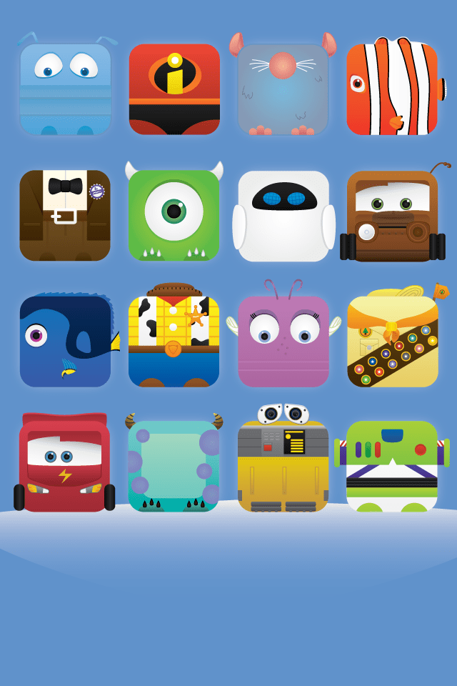 Pale Designs Pixar iPhone Blue