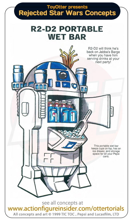 Rejected Star Wars - r2d2 wetbar
