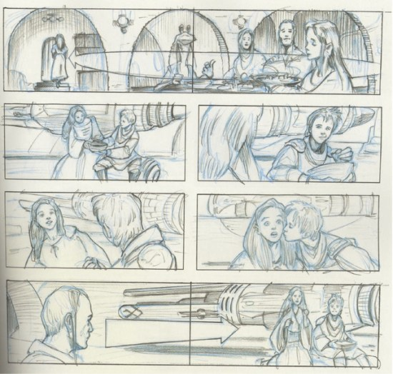 Star Wars Storyboards Prequel Trilogy - Anakin and Padme