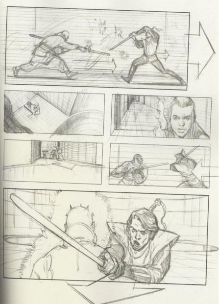 Star Wars Storyboards Prequel Trilogy - Obi Wan, Qui Gon, Darth Maul