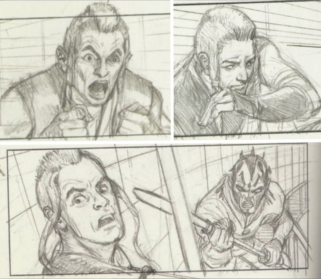 Star Wars Storyboards Prequel Trilogy - Qui Gon Jinn