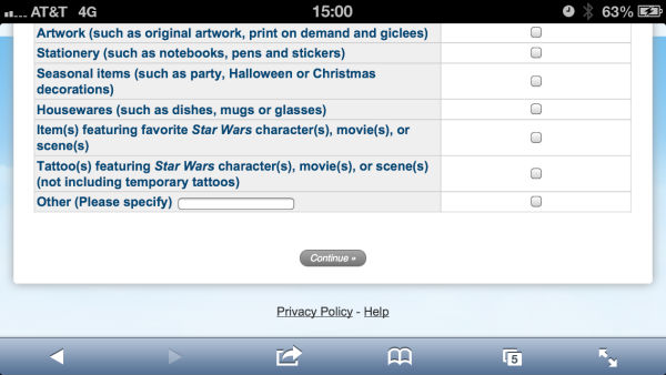 Star Wars Survey 2