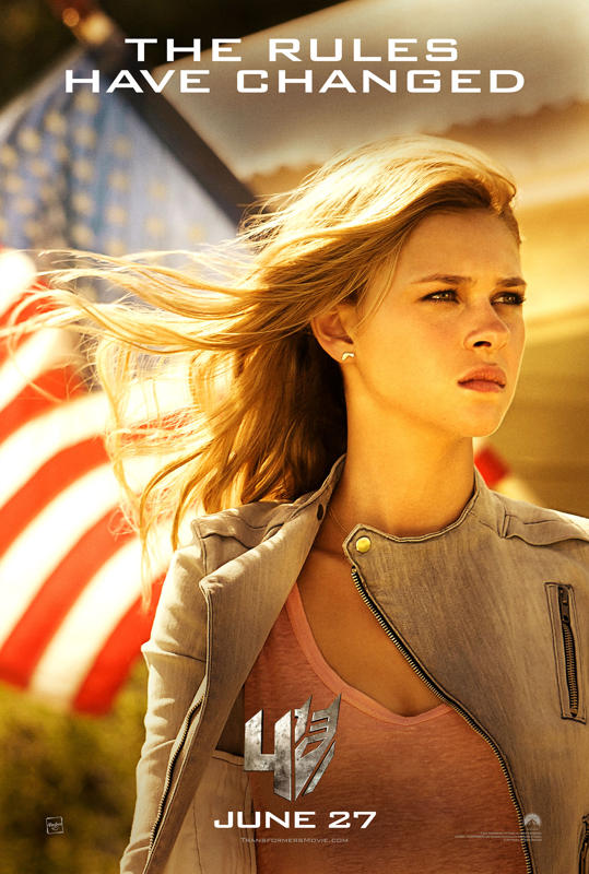 Transformers: Age of Extinction poster with Nicola Peltz