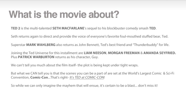 Ted 2 Casting 3