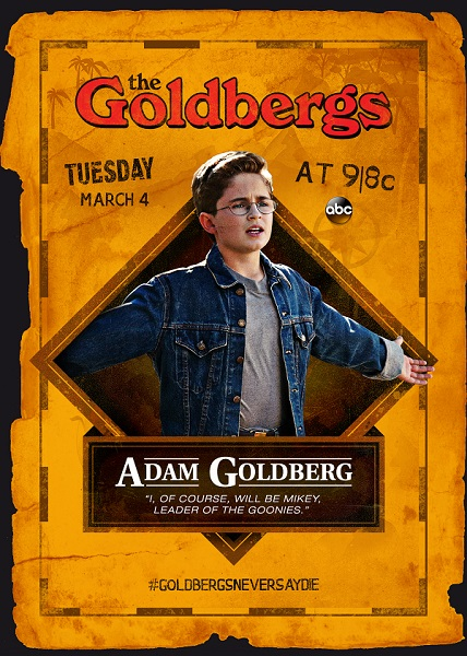 The Goldbergs Goonies trading card - Adam Goldberg