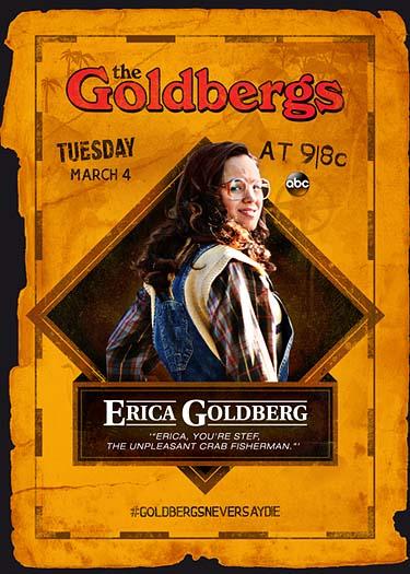 The Goldbergs Goonies trading card - Erica Goldberg