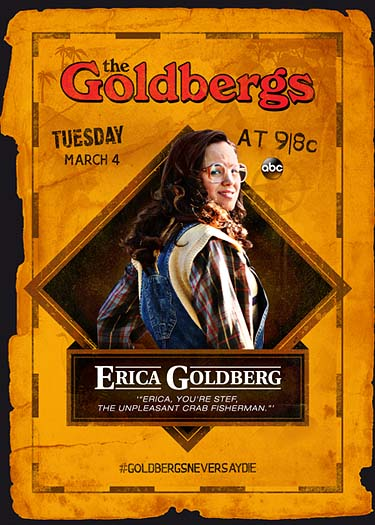 The Goldbergs Goonies trading card - Erica Goldberg