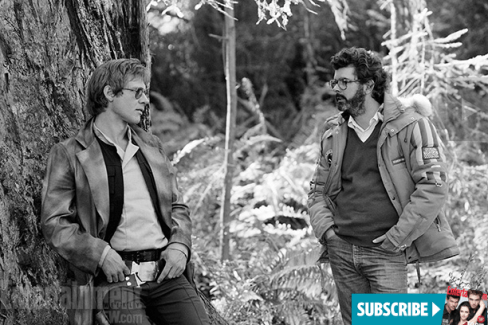 The Making of Star Wars Return of the Jedi - Harrison Ford and George Lucas