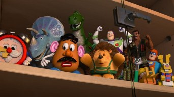 TRIXIE, MR. POTATO HEAD, REX, MR. PRICKLEPANTS, BUZZ LIGHTYEAR, COMBAT CARL