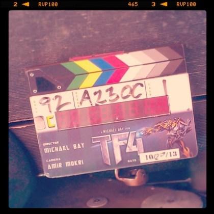 Transformers 4 clapboard