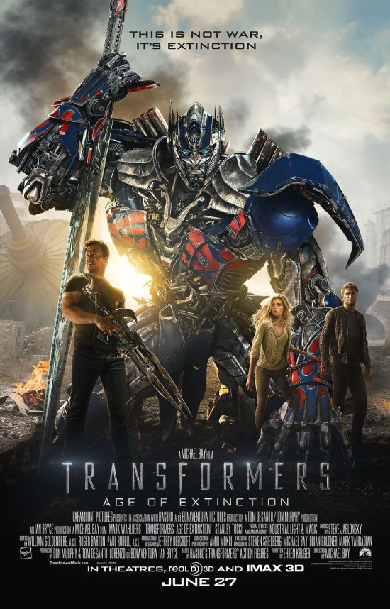 Transformers Age of Extinction poster