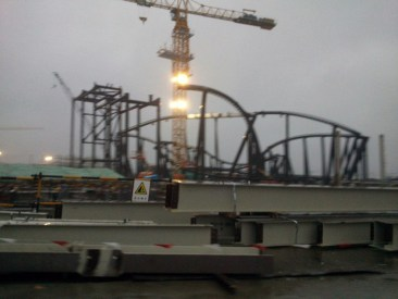 Tron ride construction