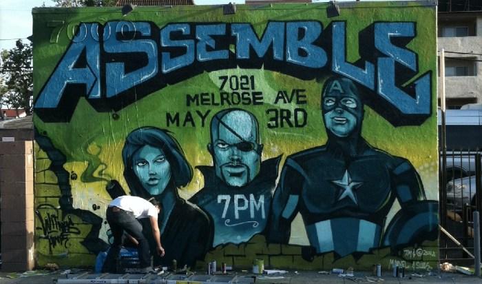 Tyke Witnes - Avengers Mural