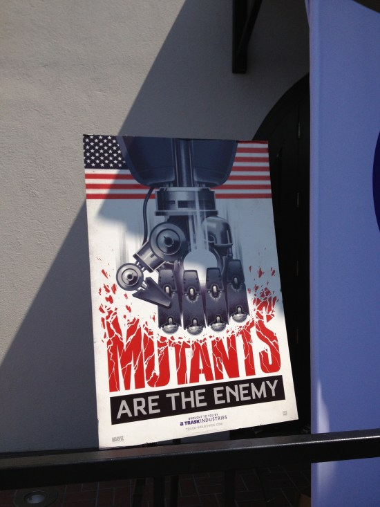 X-Men Days of Future Past - mutants are the enemy poster