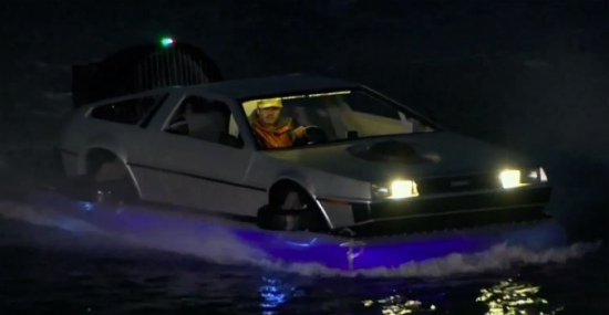'Back To The Future' DeLorean Hovercraft