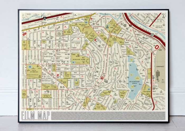 Dorothy's Film Map framed