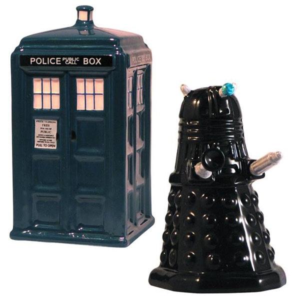 Tardis Vs. Dalek Salt & Pepper Shakers