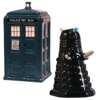 Tardis Vs. Dalek Salt & Pepper Shakers
