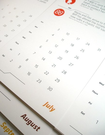 Time Travel Calendar