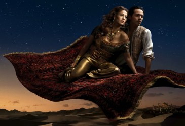 Jennifer Lopez is Princess Jasmine and Marc Anthony as Aladin