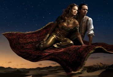 Jennifer Lopez is Princess Jasmine and Marc Anthony as Aladin