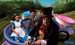 Beyonce as Alice from Alice in Wonderland, Oliver Platt as the Mad Hatter and Lyle Lovett as the March Hare.