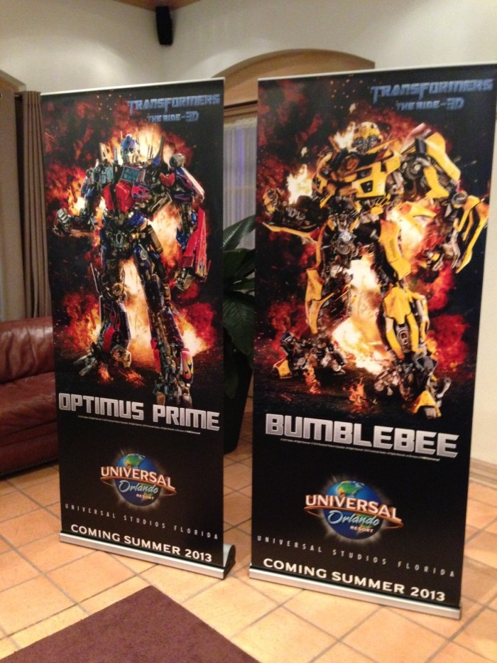 Transformers: The Ride announcement for Universal Orlando