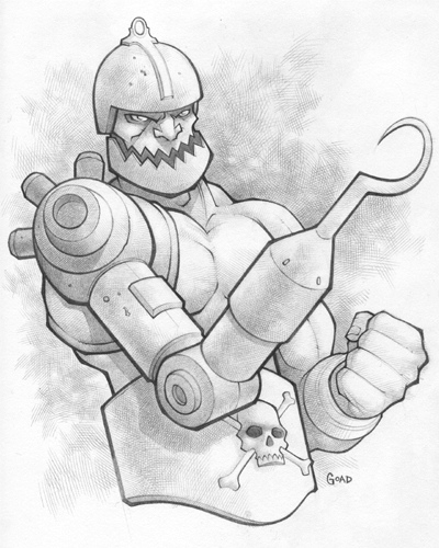 Under The Influence Art Show: Masters of the Universe - Trapjaw by Jason Goad