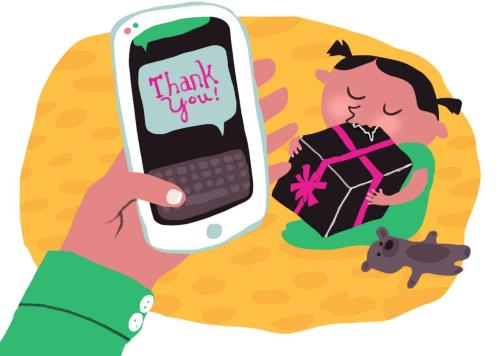 Modern Illustration By Natalie We Need A New Etiquette Handwritten Thank You Image Thank You Free