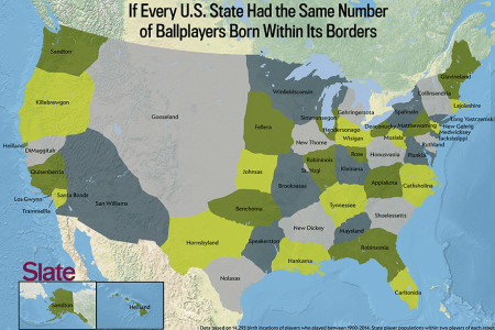 baseball player map a new u.s. map based on where