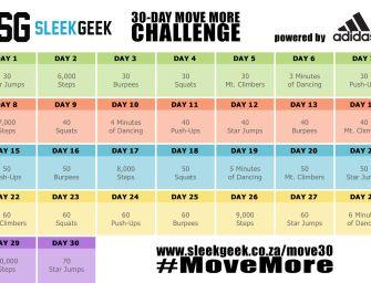 Sleekgeek's 30-Day #MoveMore Challenge