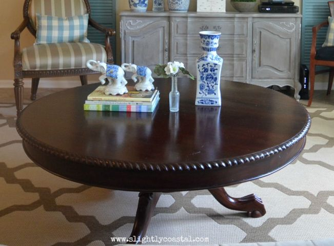 Dining Room Turned Coffee Table Styling