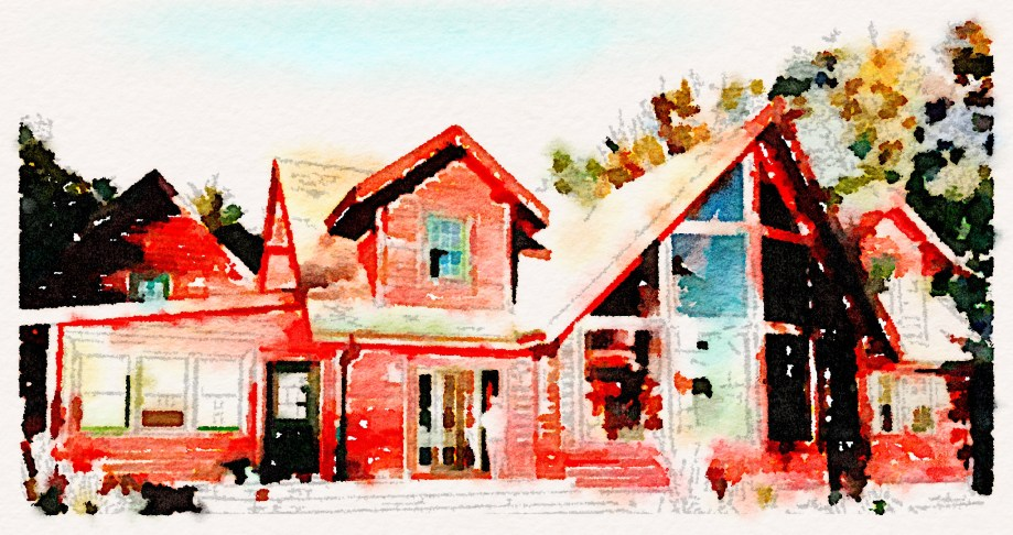 Cottage With Waterlogue