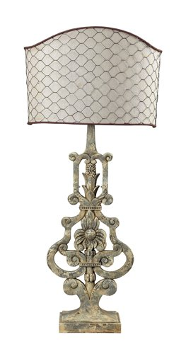 This is a serious statement piece lamp. I love the detail of the shade. For sure a great French Country Lamp with a unique style.