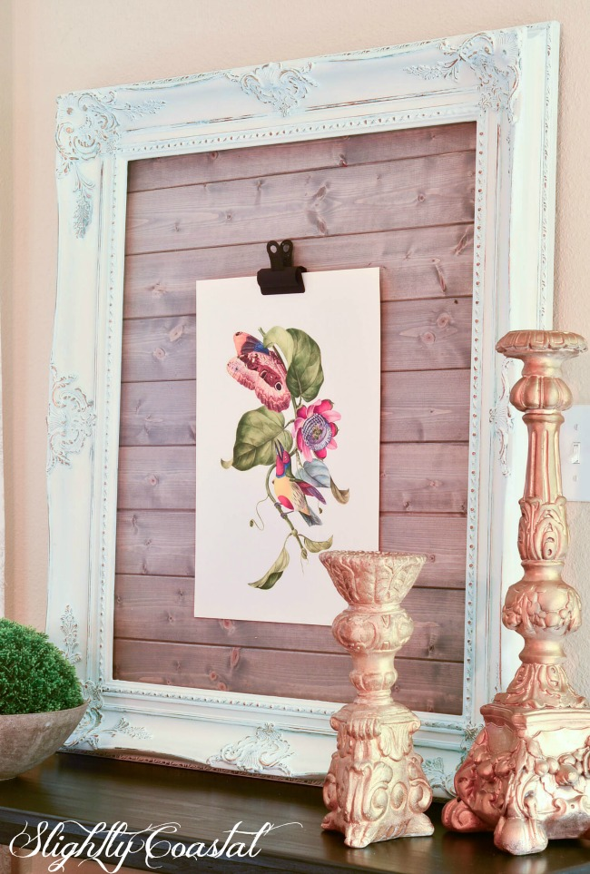 French Country Chalk Painted Art Display