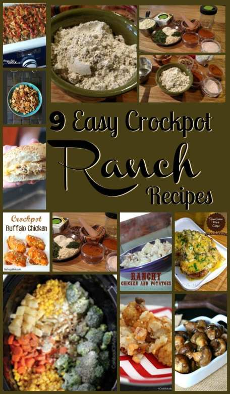 9 Easy Crockpot Ranch Recipes! Find this & more delicious recipes @ http://www.slowcookerkitchen.com