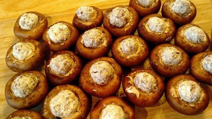 Bacon Ranch Stuffed Mushrooms