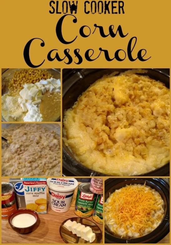 Slow Cooker Corn Casserole! Find this & more yummy recipes @ http://www.slowcookerkitchen.com