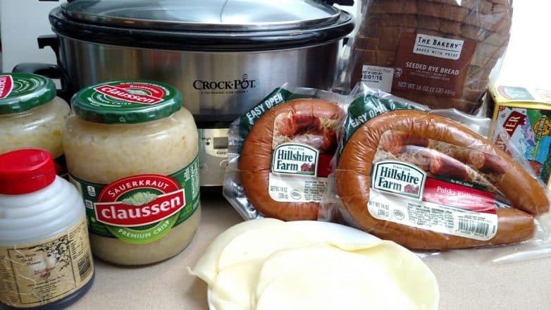 crockpot-kielbasa-and-sauerkraut
