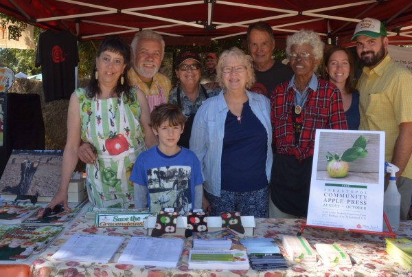 Booth of the Apple Core of Slow Food Russian River at the Gravenstein Apple Fair 2015