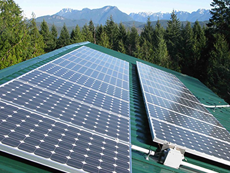 Micro inverter installation on Cortes Island, BC by Small Planet Energy