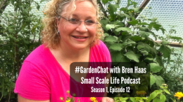 Podcast; Interview; Bren Haas; gardenchat; garden; blogging; rural living; rural life; greenhouse; biodome; periscope; farm pond; #gardenchat