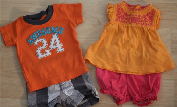 orange baby clothes