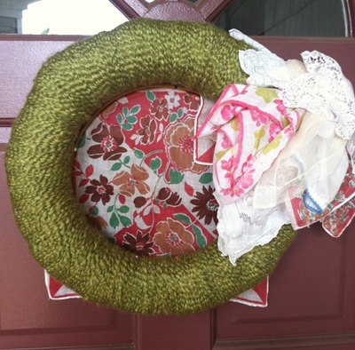 Hankie Pankie Wreath with hoop