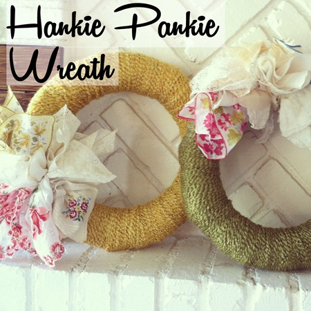 Hankie Pankie Wreath tutorial